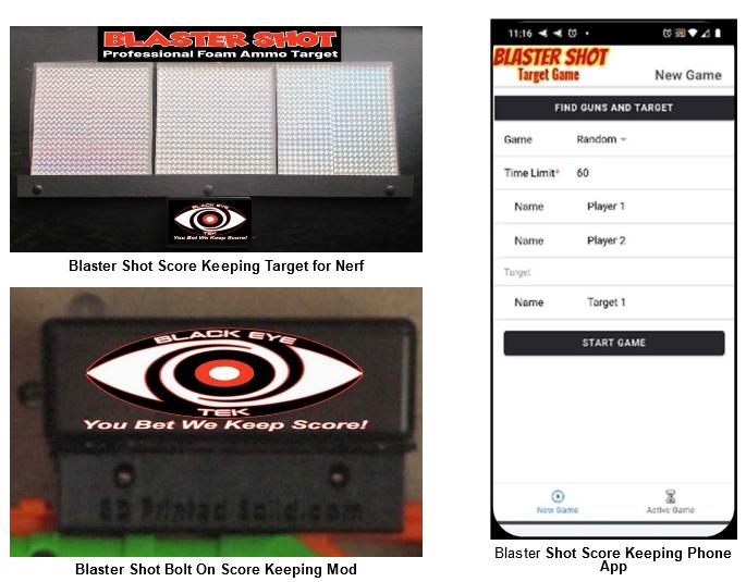 Nerf Blaster Digital Target Shooing Game