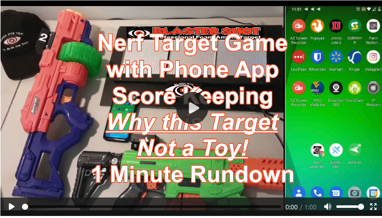 Nerf Score Keeping Target Not a Toy